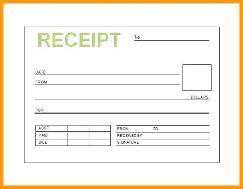 Acknowledgement Receipt Template Word by Acknowledgement Of Receipt Form Receipt Sle Dental