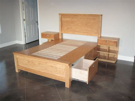 How To Make A King Size Platform Bed - diy under bed storage the budget decorator