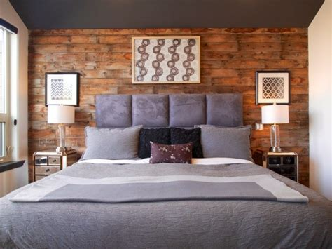 Barn board bedroom feature