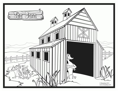 Barn Printable Coloring Pages Coloring Home Barn Coloring Pages Free
