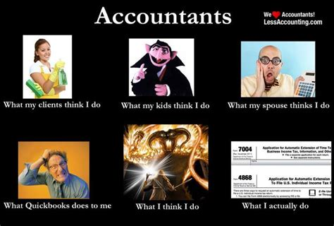 Accounting Memes - what everyone thinks accountants do what we actually do