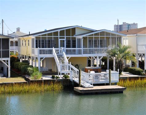 Beautiful Channel House In Cherry Grove Sc 4 Br Vacation Houses For Rent In Cherry Grove Sc
