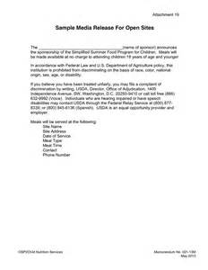 Cover Letter For Press Release by Media Release Cover Letter In Word And Pdf Formats Page 2 Of 3