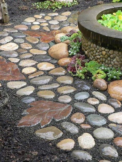 beautiful garden paths made of corner