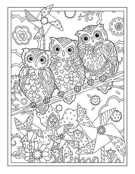 coloring pages adults owl 680 best coloring owls images on pinterest