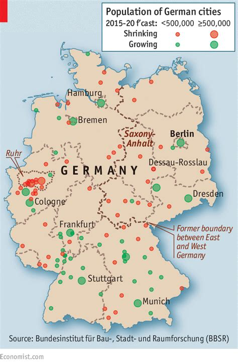 map of east and west germany with cities rus in urbe redux planning