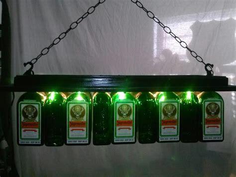 pool table bar lights jagermeister pool table light chandelier liquor bottle