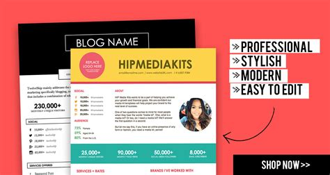 Creative Media Kit Templates Press Kits Hipmediakits Free Press Kit Template Psd