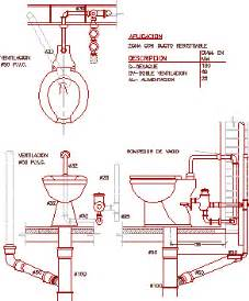 detail toilet connection in autocad drawing bibliocad