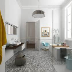 salle de bains avec carreaux de ciment c 244 t 233 maison