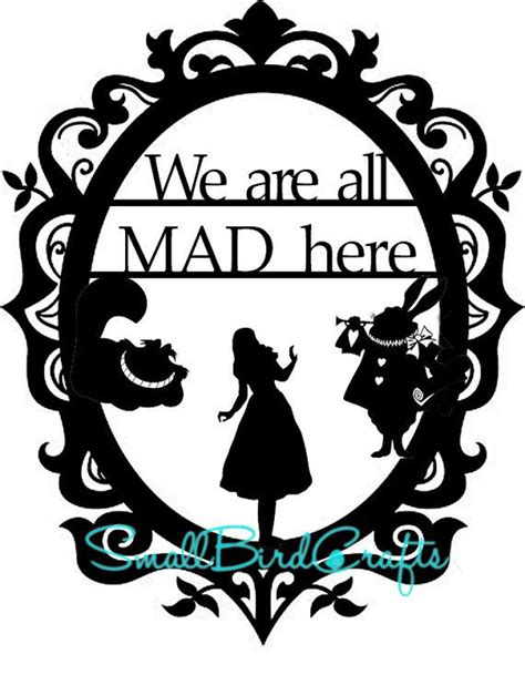 17 Best Mad Hatter S Tea Party Images On Pinterest Tea Parties Wonderland And Mad Silhouette Templates For Paper Cutting
