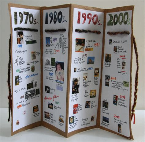 libro history is all you handmade timeline accordian books accordion book