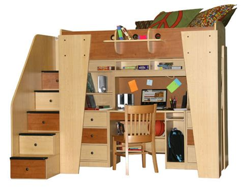 full bed loft berg furniture kid s headquarters loft bed with study area