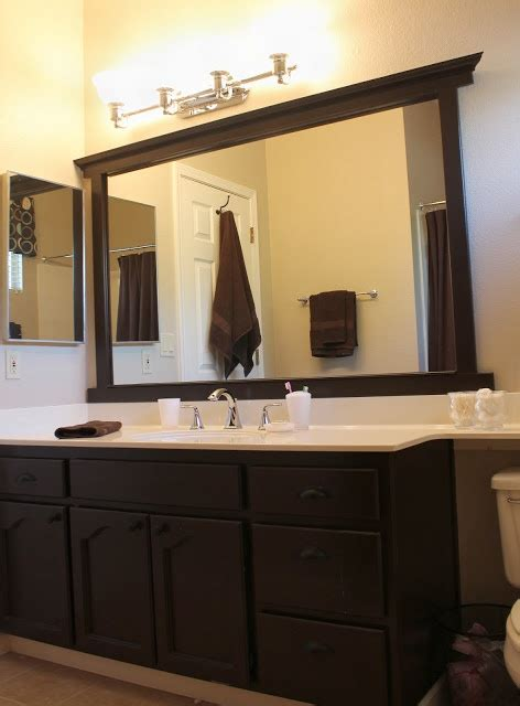 how to frame a bathroom mirror with molding framing a mirror without miter cuts