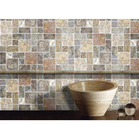 anatolia tile countryside squares mosaic travertine wall tile anatolia tile scabos mixed pattern mosaic travertine wall
