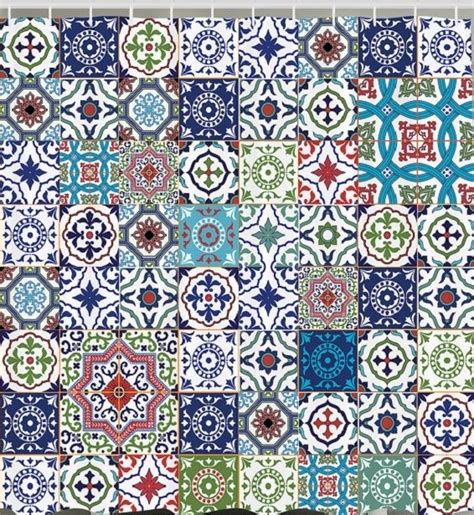 Moroccan Patchwork Tiles - mandala patchwork square tile moroccan fabric shower
