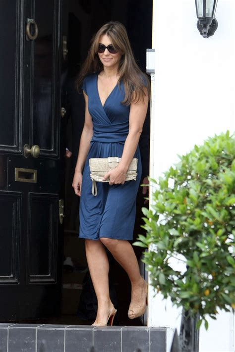 Liz Hurley In Brittish In Style by Liz Hurley Out And About Zimbio
