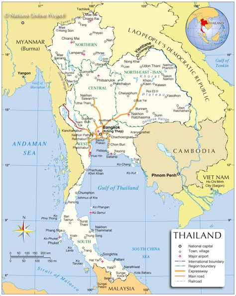 map of thailand country map of thailand location and country map of thailand