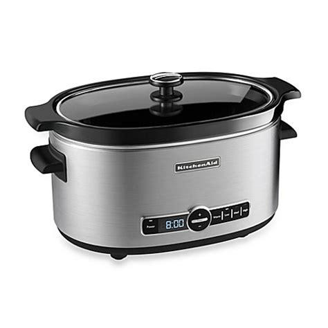 slow cooker bed bath and beyond buy kitchenaid 174 6 quart slow cooker with glass lid from