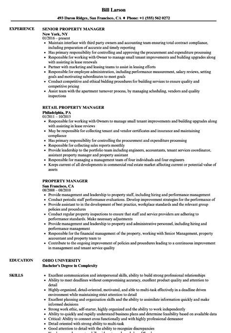 property manager sle resume property administrator sle resume social work resumes