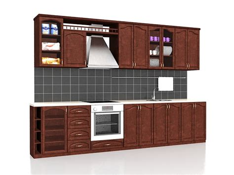 3d kitchen cabinet design straight kitchen cabinets design 3d model 3ds max files