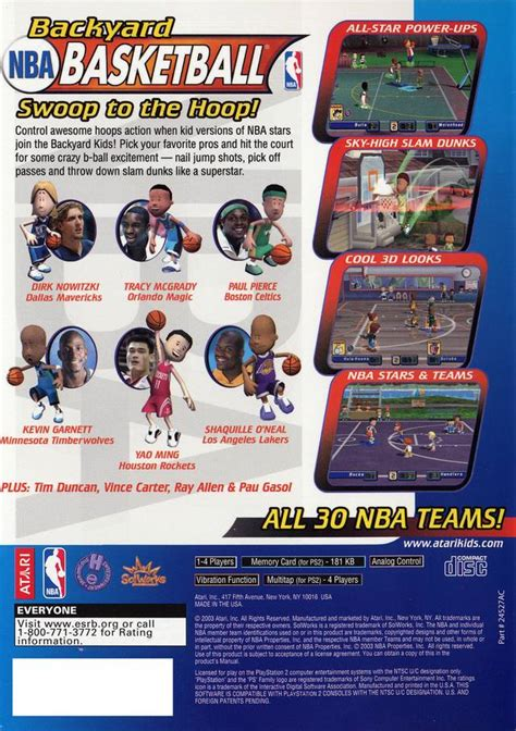 backyard basketball sony playstation 2