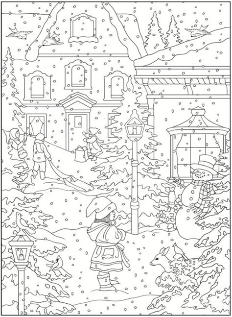 free coloring pages winter scenes freebie winter coloring pages sting