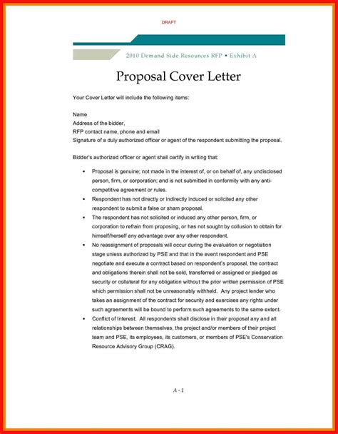 Cover Letter For Rfp by Rfp Cover Letter Template Apa Exle