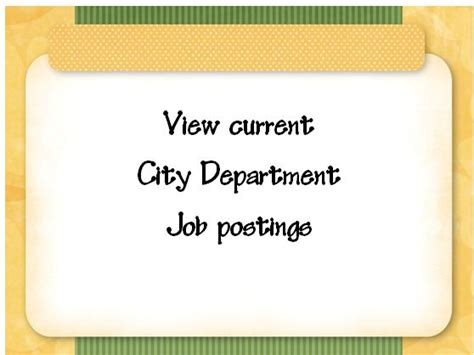 current job opportunities information from human resources city of terre haute
