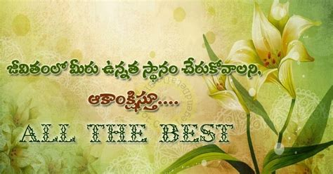 wishing all the best messages telugu all the best wishes messages greetings