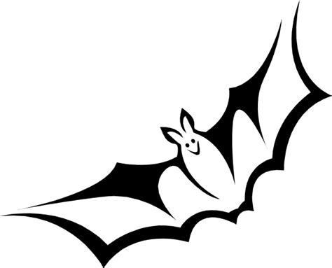 Bat Outline Vector by Bat Clip At Clker Vector Clip Royalty Free Domain