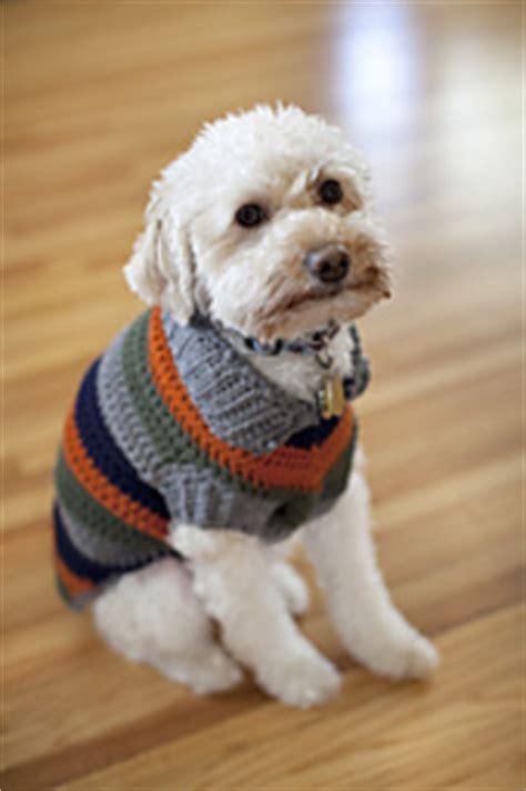 free crochet pattern for dog coats ravelry dog coat pattern by bernat design studio