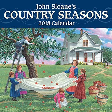 1449472443 john sloane s country seasons deluxe john sloane s country seasons 2018 mini wall calendar