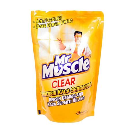 jual mr clear glass liquid lemon pouch pembersih