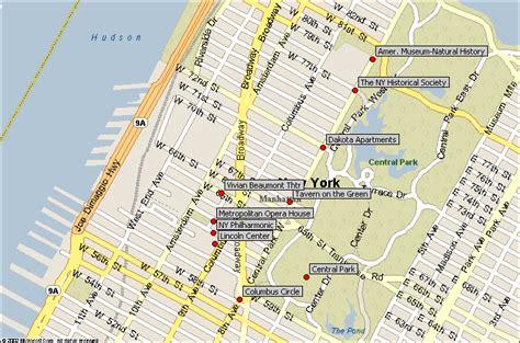 West Side Tourist Attractions Maps Update 58502825 Tourist Map Of Manhattan