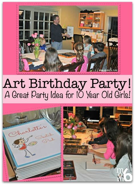 party themes 10 year olds art birthday party a great party idea for 10 year old