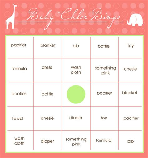 free templates for baby shower bingo 9 best images of free printable baby bingo template free