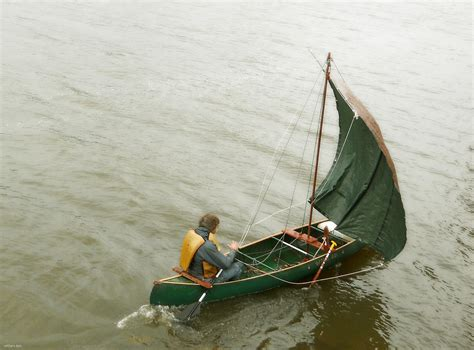 canoes with sails how to make a sail canoe the quot q quot canoe w a square sail