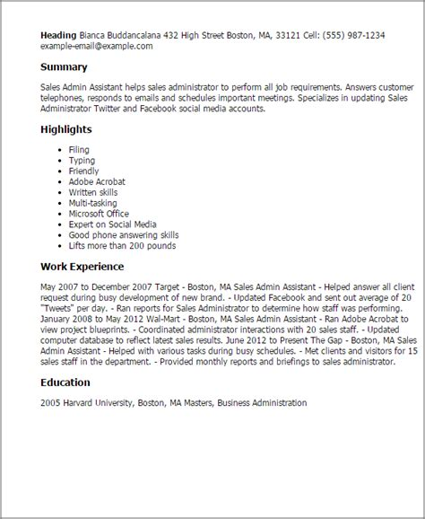 Cover Letter Sles For Admin Assistant by Sales Admin Assistant Resume Template Best Design Tips