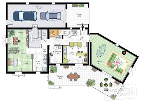 Plan Maison En T 4518 by Plan Maison En T Avis Plan Maison 150m En T De Plein Pied