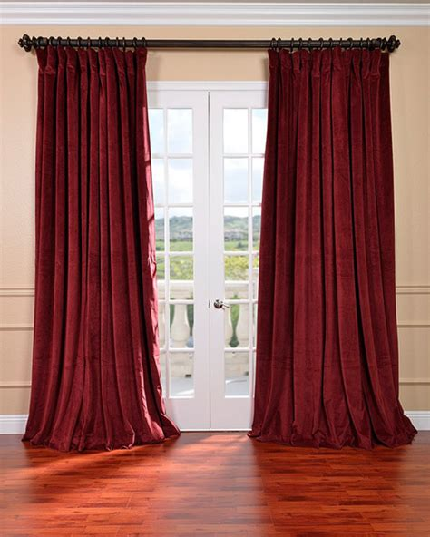 victorian drapes burgundy velvet blackout extra wide curtain panel