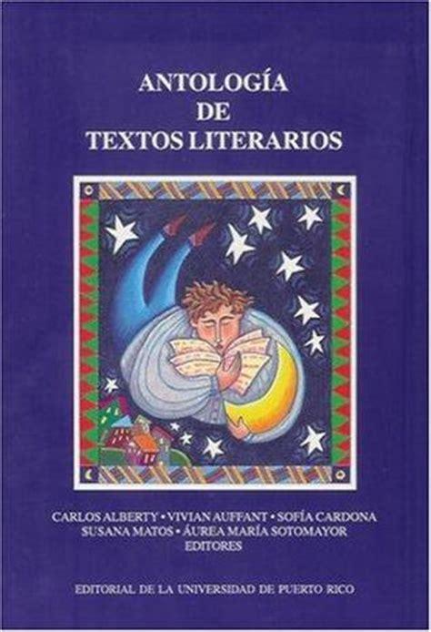 free book antolog 237 a de textos literarios free read