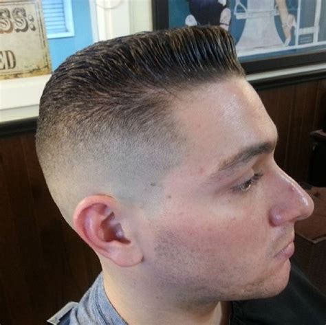 60s 70s high fade pomp mens haircut high fade with small pomp men s haircuts pinterest