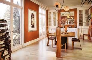 Burnt Orange Kitchen Curtains Decorating 25 Trendy Dining Rooms With Spunky Orange