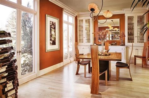 burnt orange living room walls 25 trendy dining rooms with spunky orange