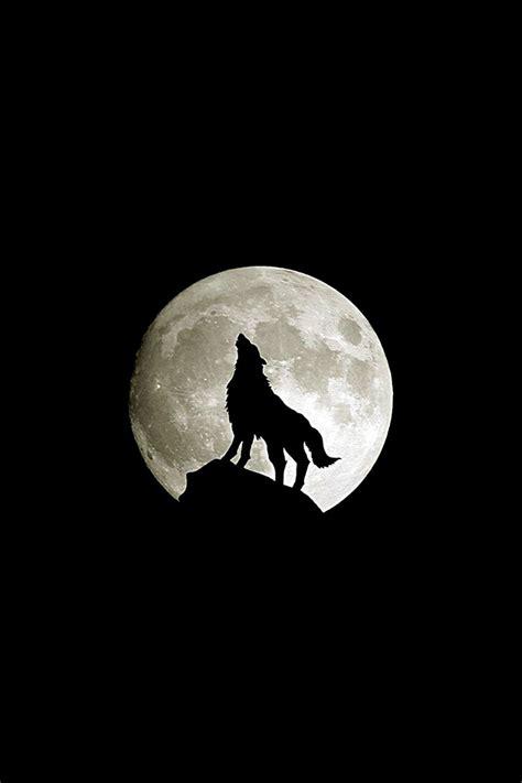 freeios wolf howl parallax hd iphone ipad wallpaper