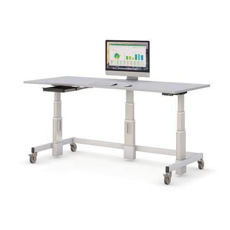 adjustable height computer desk single tier electronically adjustable computer workstation
