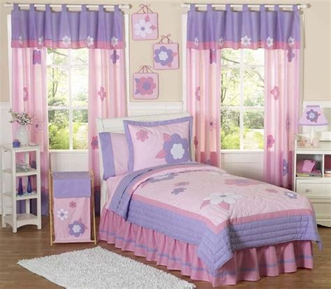 pink and purple bedding pink and purple flower childrens bedding 4pc twin set