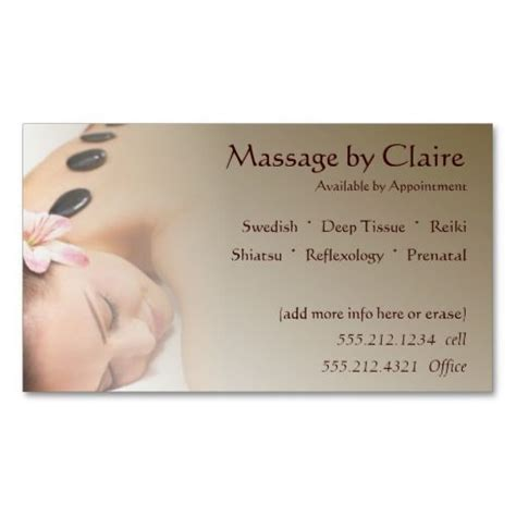 therapy business card templates free 231 best images about spa business cards on