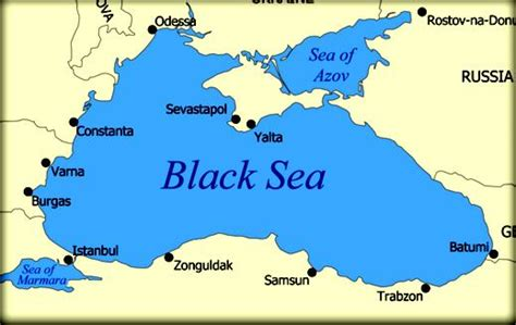 Black Sea On World Map by Bodies Of Water Ivy And Riley S European Landforms